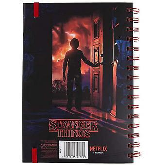 Stranger Things Mind Flayer 3D A5 Wirebound Notebook