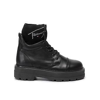 Tommy jeans tommy firma botas planas mujeres negro