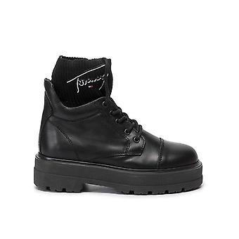 Tommy jeans tommy signature bottes plates bottes femmes noir