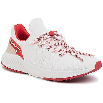 Chaussures plates rouges blanches