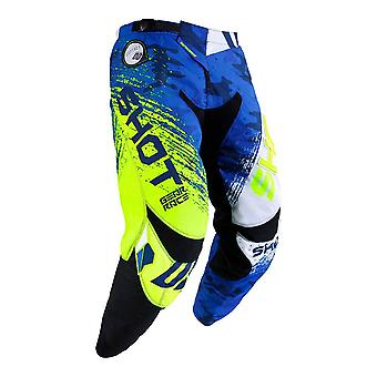 Shot Contact Counter Blue Adults MX Pants