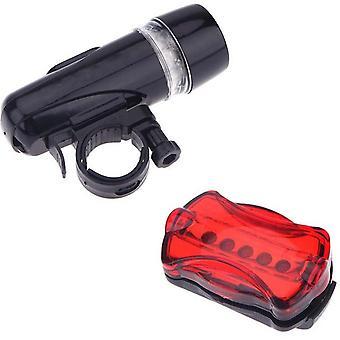 Wasserdichte Fahrrad Fahrrad Lichter 5 LEDs Fahrrad Fahrrad Vorderkopf Licht + Sicherheit hinter E-Light Scheinwerfer Zubehör Fahrradlichter