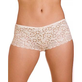Camille Three Pack White Floral Lace Boxer Shorts