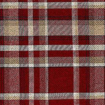 Mcalister tekstil arv Tartan rød + hvidt stofprøve