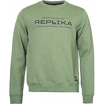 Replika Jeans Printed Crew Neck Sweatshirt