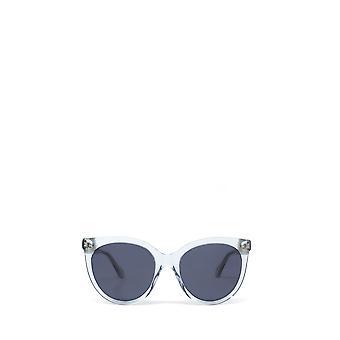 Gucci GG0565S jasnoniebieskie żeńskie okulary przeciwsłoneczne