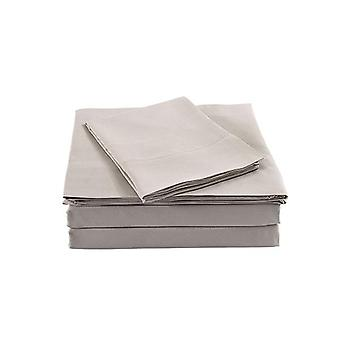 Royal Comfort Bamboo Blended Sheet Set 1000Tc Ultra Soft Warm Grey