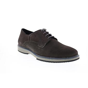 Geox U Tyren Mens Gray Suede Lace Up Oxfords & Lace Ups Plain Toe Shoes