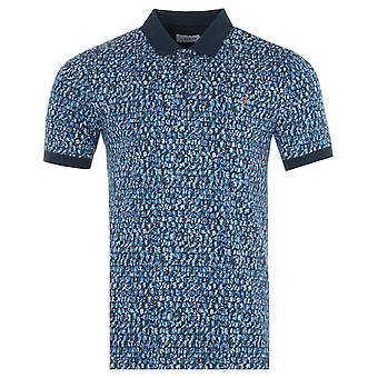 Farah Coppola Print Polo Shirt - Blue