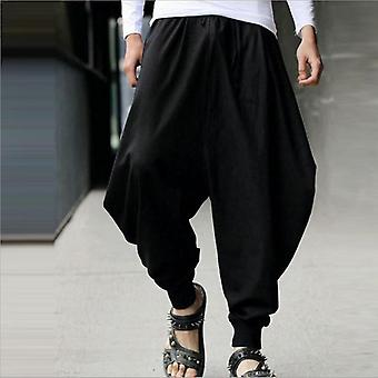 Chinese Style Cotton Haroun Trousers
