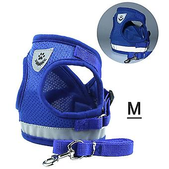 Dog harness no-pull pet harness step-in air dog harness, soft mesh reflective