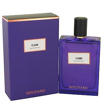 Molinard cuir eau de parfum spray (unisex) by molinard 537166 75 ml