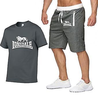 Men Summer Sportswear Short Sleeve T-shirts+ Short Pants