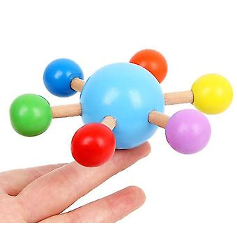 Fingertip Top Colorful Spinning Top Wooden Fun Leisure Decompression Toy