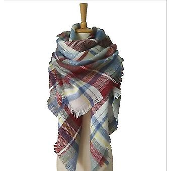 Herfst en winter imitatie Kasjmier Dubbelzijdige Kleurrijke Plaid Square Sjaal Sjaal Dames Sjaal