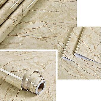 Självhäftande tvättbar marmor vinyl tapetrulle för möbler och inredning