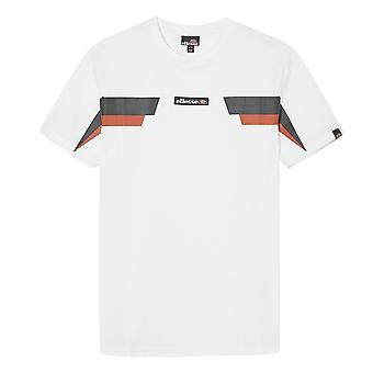 Ellesse Fellion 1284 Retro Print Half Sleeve T-shirt - Blanc