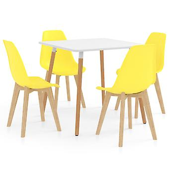 5 Piece Dining Set Yellow