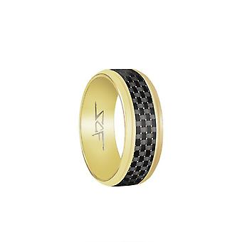 Schiefer Real Carbon Fiber Ring (Gold)