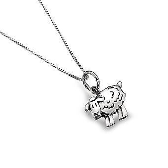 שרשרת תליון כסף סטרלינג - מקורות כבשים חמוד