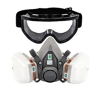 Gas Respirator Half Face Dust Mask For Painting Spraying
