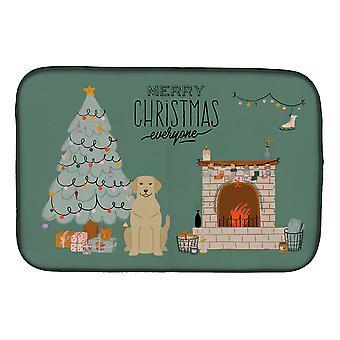 Carolines Treasures  CK7618DDM Yellow Labrador Christmas Everyone Dish Drying Ma