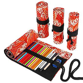 Roll School Pencil Case Large Capacity
