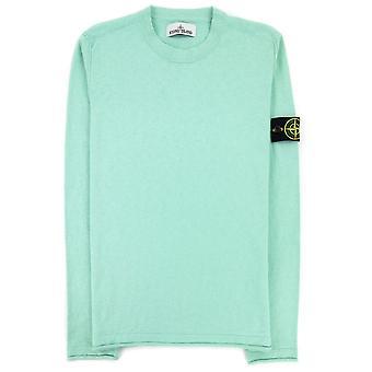 Stone Island 502b0 Fine Knit Sweater Mint Green