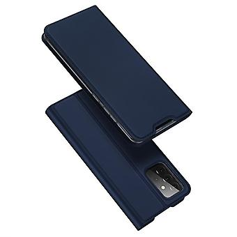 Voor samsung a32 5g case shockproof anti fall flip flap cover blauw