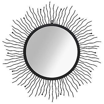 vidaXL 墙镜太阳形状 80 厘米黑色