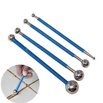 4pcs doble acero prensado bola azulejos grout herramientas de reparación