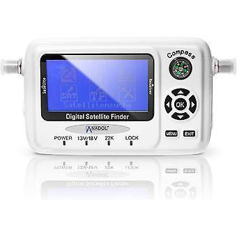 SF55 Digitaler Profi Satfinder Messgerät - Signalfinder für HD & 4K - Digitale LCD 3 Zoll LED