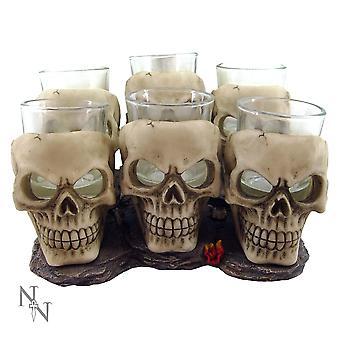 Six Shooter Skulls (Pack Of 6) Glasses