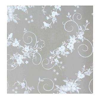 Frosted window glass sticker with glue