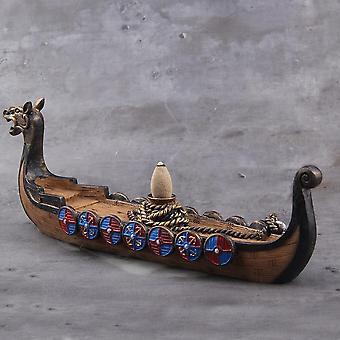 Keramisk rökelsehållare Viking Dragon Boat