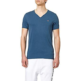 MUSTANG Aaron C Serafino T-Shirt, Celeste, XXL Men's