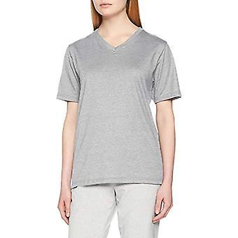 Trigema Damen V-Shirt Deluxe Baumwolle T, Grå (Ljusgrå-Melange 110), XXL Kvinna