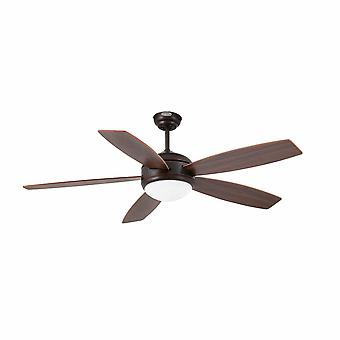 """Ventilatore a soffitto Vanu 132cm / 52"""" con luce e telecomando"""