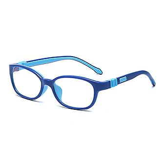 Stylish Tr Soft Silicone Flat Mirror Kids Retro Square Glasses