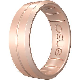Enso Rings Classic Contour Elements Series Silicone Ring - Oro Rosa