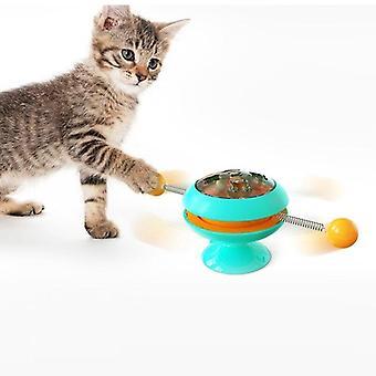 Ανεμόμυλο παιχνίδια για γάτες παζλ στροβιλίζεται πικάπ παιχνίδι παιχνίδι κατάρτισης γατάκι (μπλε)