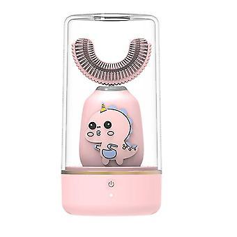Pink automatic 360¡ã electric toothbrush u-type teeth whitening for kid/children az8560