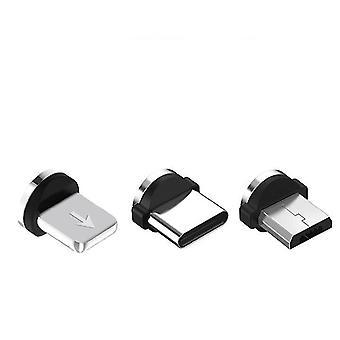 2Pcs 1mケーブルと3プラグiPhone用交換プラグ付き金磁気充電ケーブル、huawei samsung az866