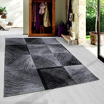 Tapis à poils courts PULS Salon Design Tapis Check Design Moderne