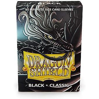 Dragon Shield Japanese Size Black Card Sleeves - 60 Sleeves