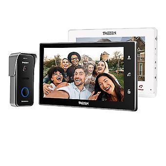 Wireless Wifi Smart Ip Video Doorbell Intercom System ,10 Inch+7 Inch Screen