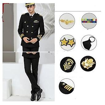Herren Langarm Captain Navy Uniform
