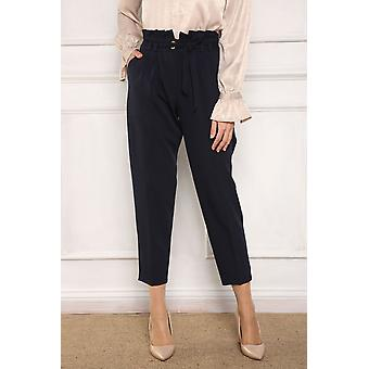 Pocket Belted Hijab Pants