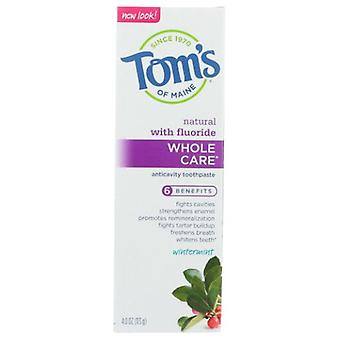 Tom's Of Maine Wholecare Toothpaste, Wintermint 4 Oz