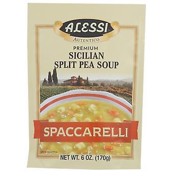 Alessi Mix Soup Split Pea, Case of 6 X 6 Oz